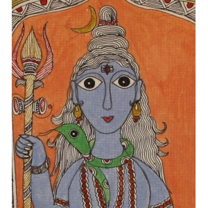 The Mighty Shiva in Madhubani Art