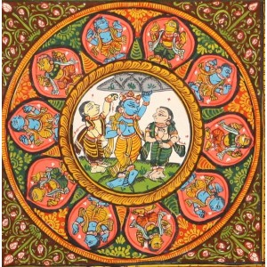 Life of Krishna- Patachitra