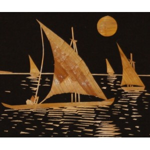 Sail Sail Sailing Boat! - A rice straw depiction
