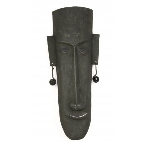 Tribal man face with a long nose