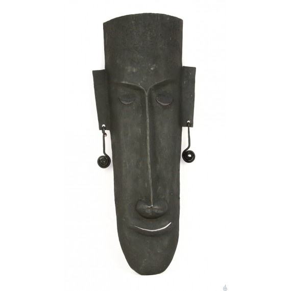 A long faced tribal man with a long nose - Bastar Art