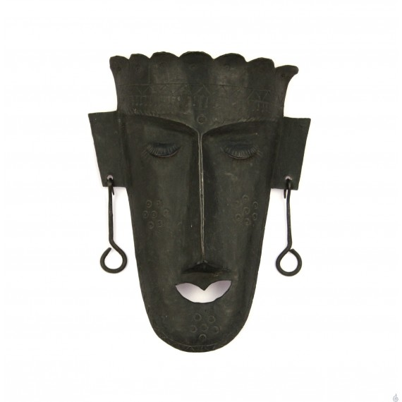 Wrought iron face of a tribal